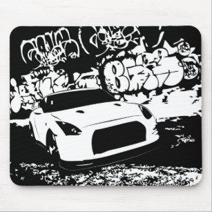 drift mouse pads zazzle Subaru WRX Interior nissan skyline gtr with graffiti backdrop mouse pad