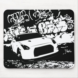 Nissan Skyline GTR with Graffiti Backdrop Mouse Pad