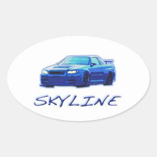 Nissan Skyline Pegatina De Ovaladas