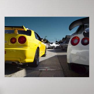 Nissan Skyline R34, R33, R32, R35, Hakosuka GT-R Poster