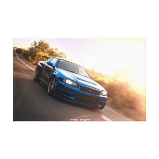 Nissan Skyline R34 VSpec II Nur in California Canvas Print