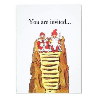 Nisse Gnome King and Queen 5.5x7.5 Paper Invitation Card
