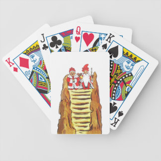 Nisse Gnome King and Queen Bicycle Playing Cards