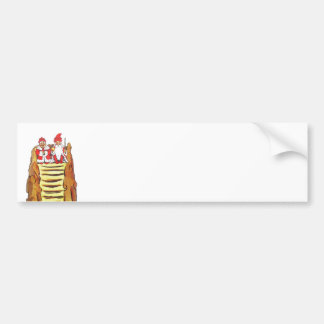 Nisse Gnome King and Queen Bumper Sticker