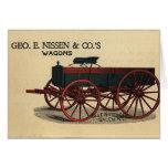 Nissen Wagon Greeting Card