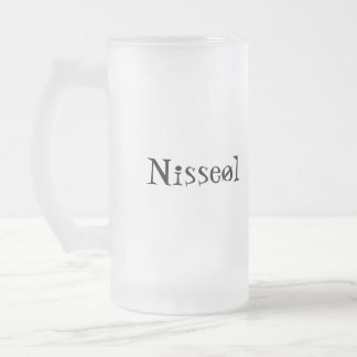 Nisseøl Frosted Glass Beer Mug