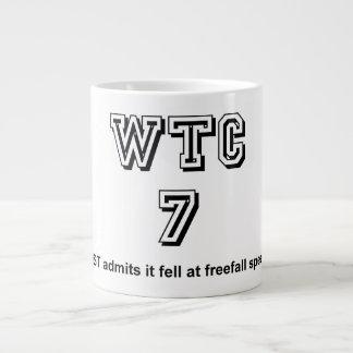 NIST admits WTC7 fell at freefall speed 20 Oz Large Ceramic Coffee Mug