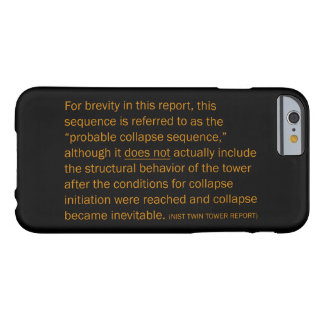 NIST Twin Tower Report Barely There iPhone 6 Case