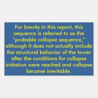 NIST Twin Tower Report Rectangular Sticker