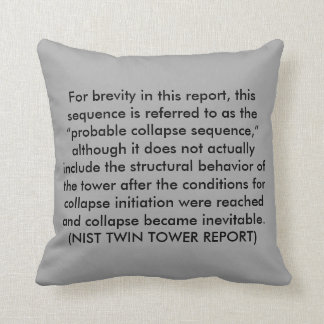 NIST Twin Tower Report Throw Pillow
