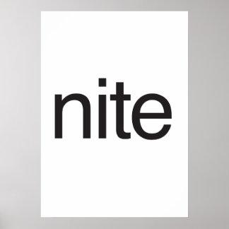 nite poster