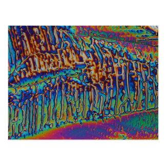 Nitrato del galio debajo del microscopio postal