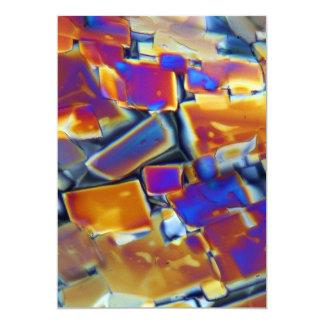 """Nitrato del itrio debajo del microscopio invitación 5"""" x 7"""""""
