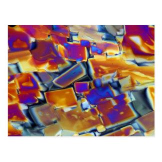 Nitrato del itrio debajo del microscopio postales