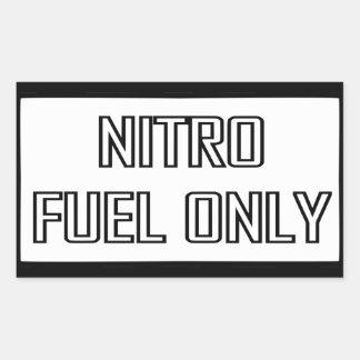 Nitro Fuel Only Toolbox Rectangular Sticker