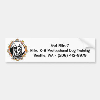 "Nitro K-9 ""Got Nitro?"" (Bumper Sticker) Bumper Sticker"
