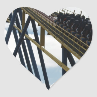 Nitro Roller Coaster Six Flags Great Adventure Heart Sticker