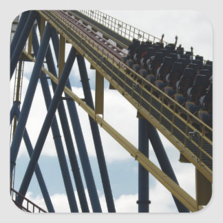 Nitro Roller Coaster Six Flags Great Adventure Square Sticker
