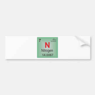 Nitrogen Individual Element of the Periodic Table Bumper Sticker