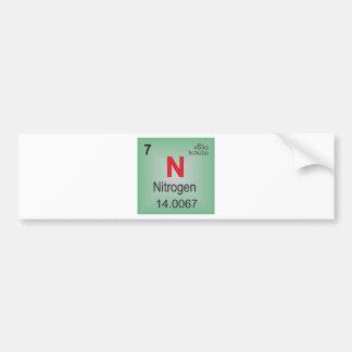 Nitrogen Individual Element of the Periodic Table Bumper Sticker