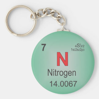 Nitrogen Individual Element of the Periodic Table Keychain