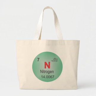 Nitrogen Individual Element of the Periodic Table Large Tote Bag