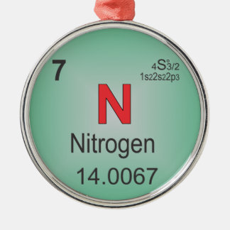 Nitrogen Individual Element of the Periodic Table Metal Ornament