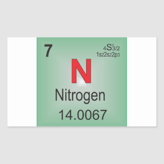 Nitrogen Individual Element of the Periodic Table Rectangular Sticker