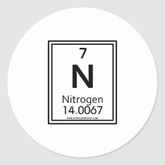 Nitrógeno 07 pegatina redonda