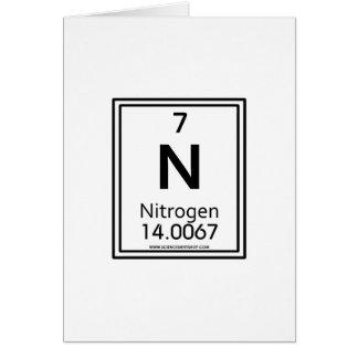Nitrógeno 07 tarjeta de felicitación