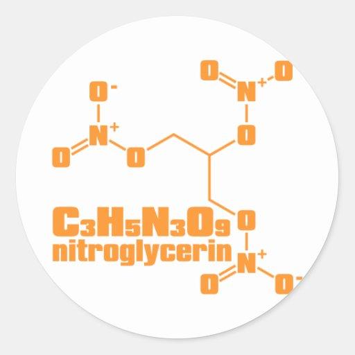 nitroglicerina etiqueta redonda