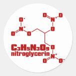 nitroglicerina pegatinas redondas
