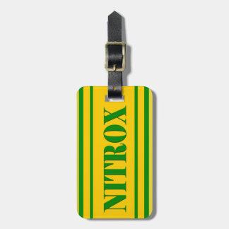 NITROX DIVING LOGO NITROX SCUBA DIVER - ETIQUETAS DE MALETAS
