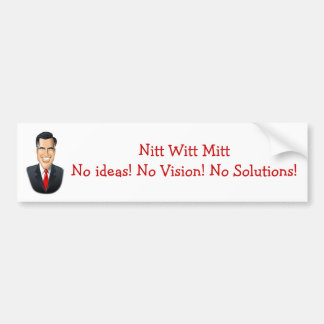 Nitt Witt Mitt Bumper Sticker