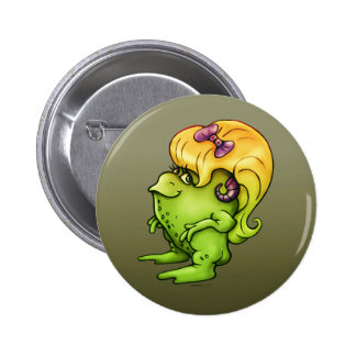 NITTA CUTE ALIEN MONSTER FROG 2¼ Inch BUTTON