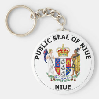 Niue Coat of Arms Key Chain