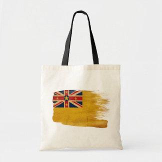 Niue Flag Canvas Bags