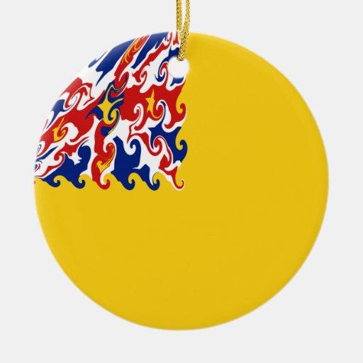 Niue Gnarly Flag Ceramic Ornament