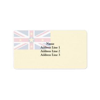 Niue, New Zealand Address Label