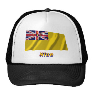 Niue Waving Flag with Name Trucker Hat