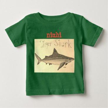 Hawaiian Themed Niuhi Tiger Shark Kids T-shirt