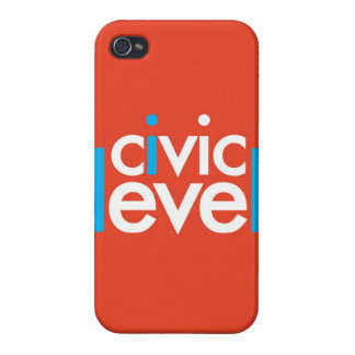 """""""Nivel cívico """" iPhone 4 Carcasa"""