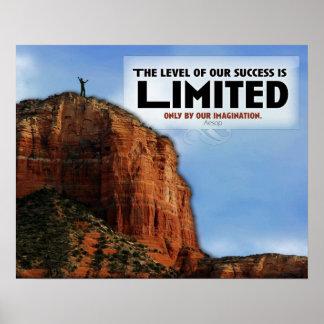 Nivel de poster del personalizado del éxito