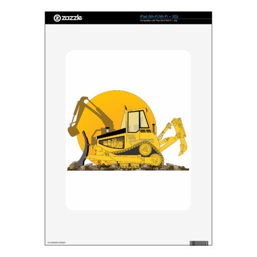 Niveladora amarilla Sun iPad Calcomanía