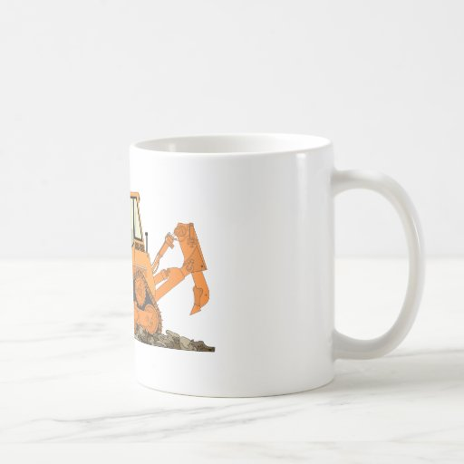 Niveladora anaranjada taza clásica