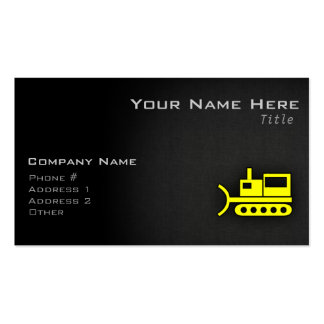 Niveladora del amarillo amarillo tarjetas de visita