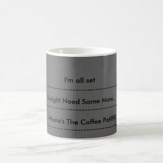 Niveles del café taza básica blanca