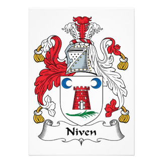 Niven Family Crest Cards