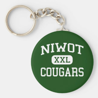 Niwot - Cougars - High School - Niwot Colorado Basic Round Button Keychain