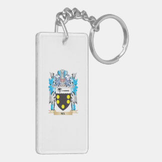 Nix Coat of Arms - Family Crest Double-Sided Rectangular Acrylic Keychain